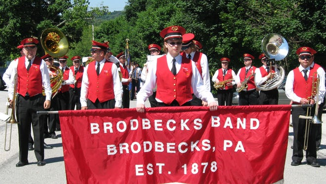 The Brodbecks Band prepares for a parade about four years ago.