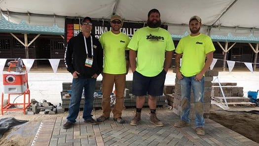 Zillges Materials, of Oshkosh, took second and eighth place in a recent national hardscaping competition.