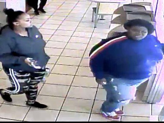 Glendale police want to identify these two women captured on video surveillance footage from McDonald's, 5344 N. Port Washington Road, at 10:49 a.m. Sunday March 18. The woman in the front allegedly pushed a 17-year-old female employee, causing her to hit her head on a fryer.