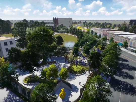 The design for Caddo Common Park by the Caddo Common
