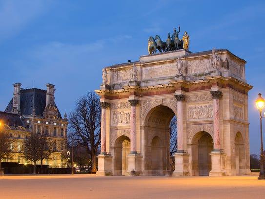 Paris (France). Arc de Triomphe du Carrousel in the