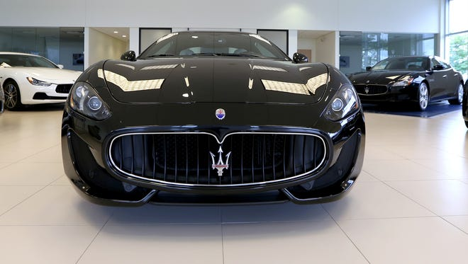 A Maserati Gran Turismo Sport  at the Maserati of Troy show room on Tuesday, September 2, 2014.