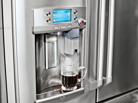 GE announced a fridge that can brew coffee.