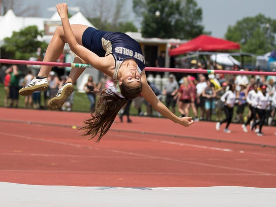Lancaster's Hope Purcell competed in the Division I