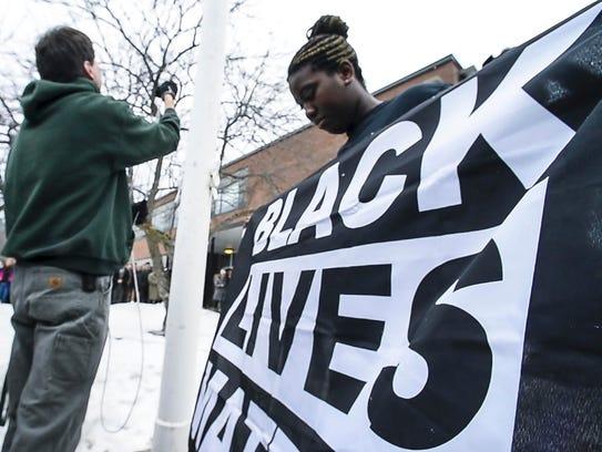 A Black Lives Matter flag was raised over Montpelier