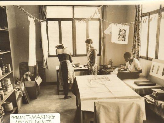 The Nyumba ya Sanaa center, whose printmaking studio
