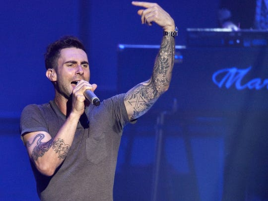 Adam Levine will perform with Maroon 5 on Feb. 28 at Bankers Life Fieldhouse.