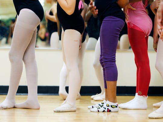 Princesses Ballet dancers line up during practice at