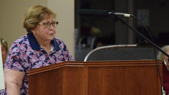 Madonna Adcock, a resident of Nelson Road for more than 50 years, spoke against the rezoning of property to allow for construction of a new apartment complex, the Flats on Memorial, at a public hearing on Monday June 8, 2020, before Lancaster City Council. The council unanimously approved the zoning change.
