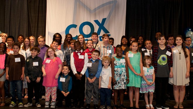 Cox Communications honored 48 students as Inspirational Heroes during a recent ceremony.