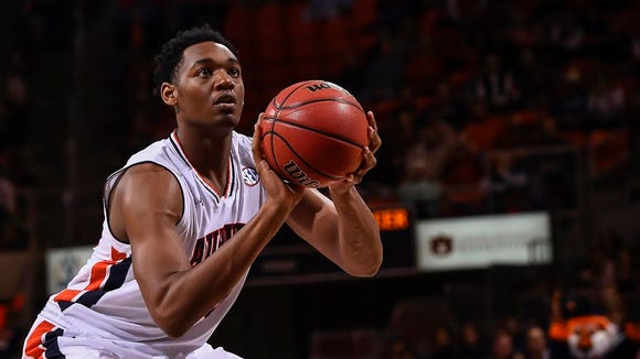 Auburn freshman Austin Wiley had nine points and three rebounds in his college debut against Mercer on Sunday, Dec. 18, 2016 in Auburn, Ala.