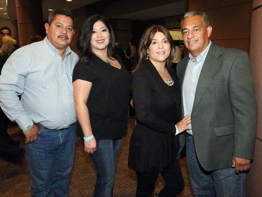 Eduardo and Diana De La Rosa, left to right, and Nina and Mike Pina.