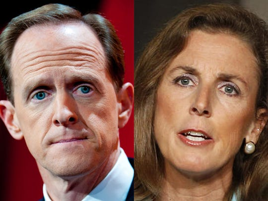 Katie McGinty is challenging incumbent Pat Toomey for