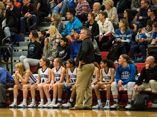 Cedar Crest's bench looks on as Cedar Crest fell to