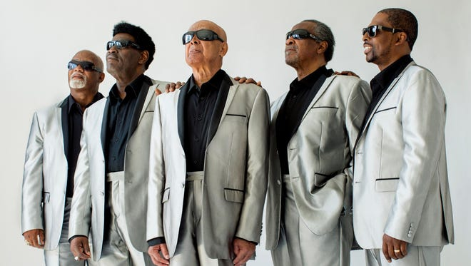 The Blind Boys of Alabama are, from left, Ricky McKinnie, Paul Beasley, Jimmy Carter, Ben Moore and Joey Williams.