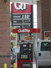 The sign at the QuikTrip station on Greenville Street in Anderson only lists regular unleaded price, the only available gasoline at the station.
