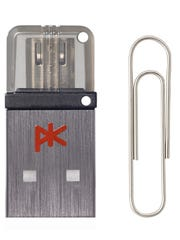 The PK K'3, USB 3.0 key for smartphones and tablets offers fast USB 3.0 speed, 32GB of storage and double ended ports.