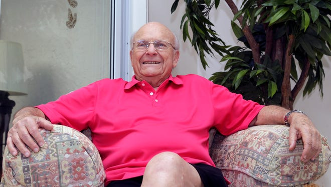 Aortic valve surgery patient Irwin Weiner poses for a photo, Friday, Dec. 11, 2015, at his home in Boca Raton, Fla. Very old age is no longer an automatic barrier for aggressive therapies, from cancer care, to major heart procedures, joint replacements and even organ transplants