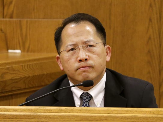 Appleton Police Sgt. Chue Thao testifies during the