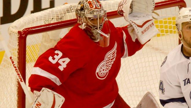 Red Wings goalie Petr Mrazek