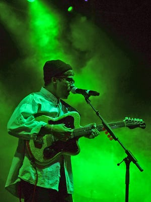Portugal. The Man rock the Main Stage at McDowell Mountain Music Festival at Margaret T. Hance Park in Phoenix on March 27, 2015.