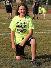 Connor Sherman of Canton came up with the idea for Sunshine's Skills & Drills Football Clinic.