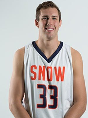 Braden Koelliker, a 6-foot-8 forward from Snow College, signs with CSU's basketball program.