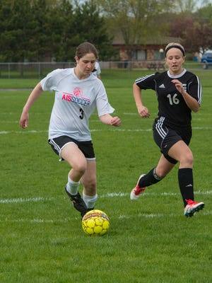Sophomore Rowen Kilawee is one of many reasons why the Amherst-Iola-Scandinavia co-op girls soccer team is off to a 12-1-2 start in just its third season of varsity competition. Kilawee ranks second in the state with 34 goals and 77 points.