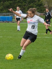 Becca Glisczinski is one of many reasons why the Amherst-Iola-Scandinavia co-op girls soccer team is off to a 12-1-2 start in just its third season of varsity competition.