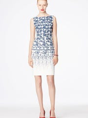 Above, star-patterned sleeveless sheath dress offers a sexy take on patriotism. $155 at landsend.com.