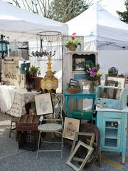 The Gypsy Fish booth at a previous Clover Market. On June 19, Clover Market brings its 100 antique and handcraft vendors to Collingswood.