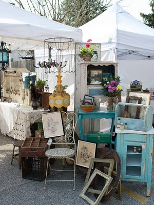 The Gypsy Fish booth at a previous Clover Market. On Sunday, Clover Market brings its 100 antique and handcraft vendors to Collingswood.