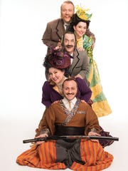From top: Matthew Wages, Sarah Caldwell Smith, Stephen Quint, Cáitlín Burke and  David Macaluso  star in the new production.