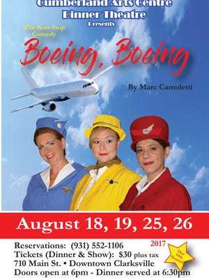 Amy Snider, Nicole June and Mary Beth Hawkins in Boeing, Boeing""