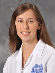 Dr. Amanda Alvelo-Malina, an obstetrician-gynecologist at Henry Ford West Bloomfield Hospital.