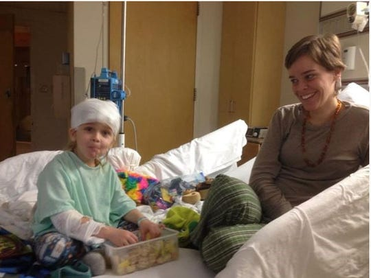 Lacey and Garnett Spears in his room at Nyack Hospital days before his death. Authorities believe Lacey Spears may have poisoned the little boy three times in his last days, including on Jan. 19 at Nyack Hospital, when his sodium level spiked and he had to be flown to Valhalla.