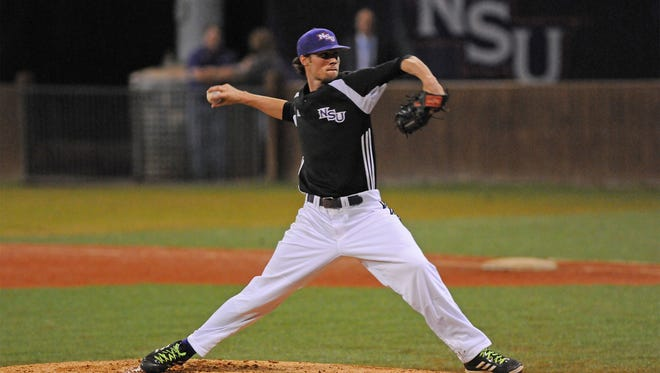 Evan Tidwell, a sophomore from Zachary, recorded 14 straight outs from the fourth through eighth innings against the ULM Warhawks.