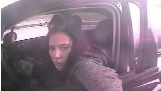 Police are searching for this female suspect, who allegedly used a stolen driver's license to rob a woman of more than $8,000.