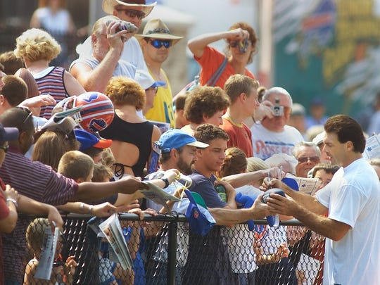 Doug Flutie was the big attraction at the first Bills' training camp at St. John Fisher College.