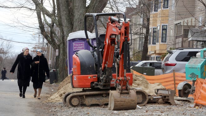 A Decatur Avenue construction site in Monsey, where a multi-family townhouse is being built.