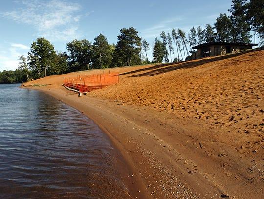 Red Sand Beach at Lake Wazeecha