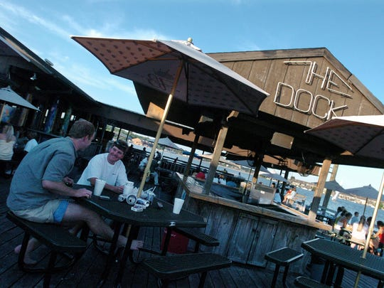 The deck at The Dock was a great place to enjoy friends,