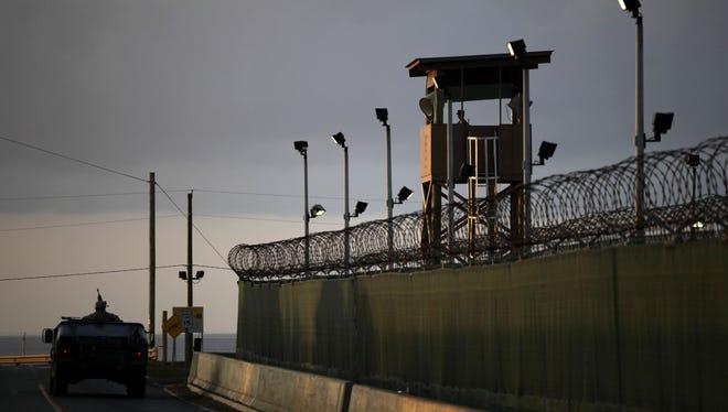 The U.S. navy detention facility at Guantanamo Bay, Cuba.