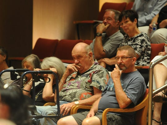 About 40 people attended a forum for Thousand Oaks City Council candidates Wednesday night at City Hall.