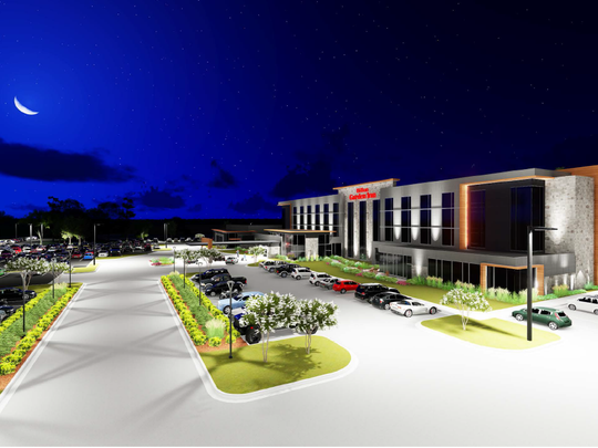 Renderings of Hilton Garden Inn were released as plans were approved by the town of Rib Mountain.