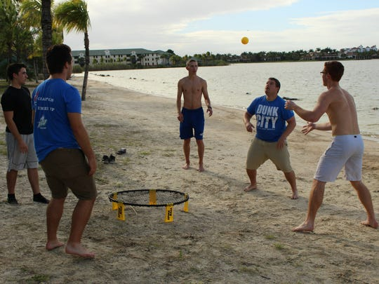 The beach area near North Lake Village, a housing facility at Florida Gulf Coast University, is student hang out spot.