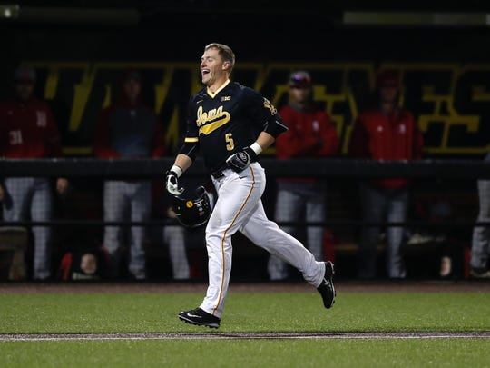 Tyler Cropley jogs home after his walk-off grand slam in Wednesday's 13-9 win over Bradley at Duane Banks Field.