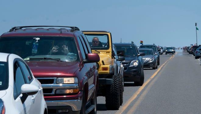 Traffic woes mount on Pensacola Beach as Memorial Day Weekend begins Friday morning.