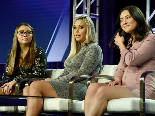 "Kate Gosselin, center, is on a quest for a new man in TLC's ""Kate Plus Date,"" with her daughters Cara, left, and Mady, along for the ride."