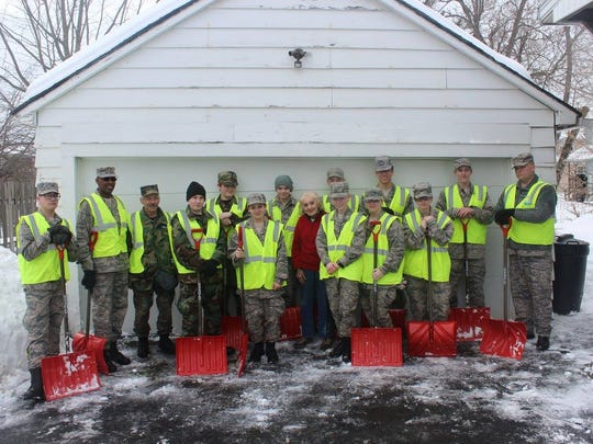 Members of the South Central Group, New York Wing, Civil Air Patrol, responded to Winter Storm Stella on March 19.